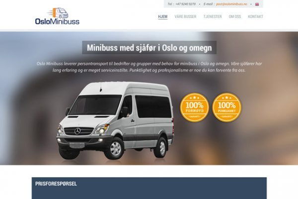 Webdesign for Oslo Minibuss